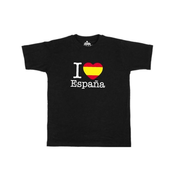 Ländershirt Spanien, Schwarz, M, Mann