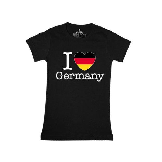 Ländershirt Deutschland, Schwarz, L, Frau