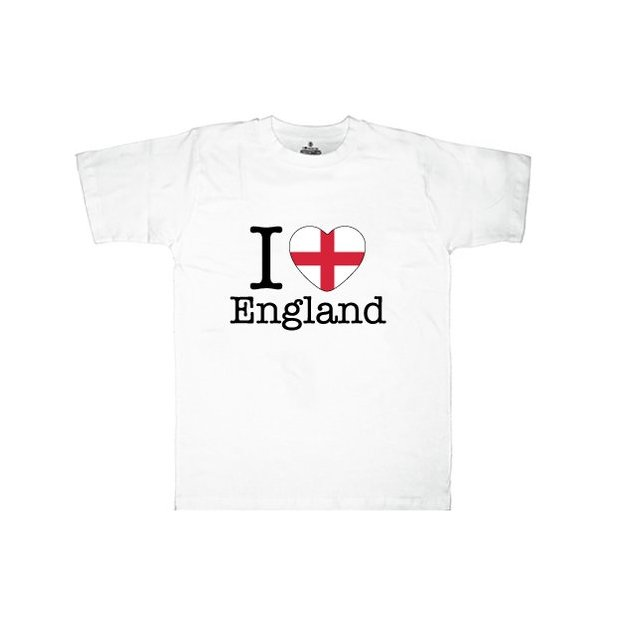 Shirt Nation Angleterre, Blanc, M, Homme