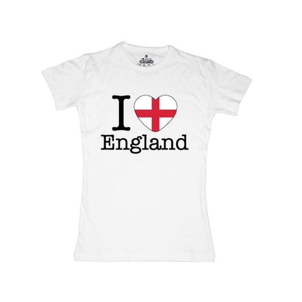Shirt Nation Angleterre, Blanc, M, Femme