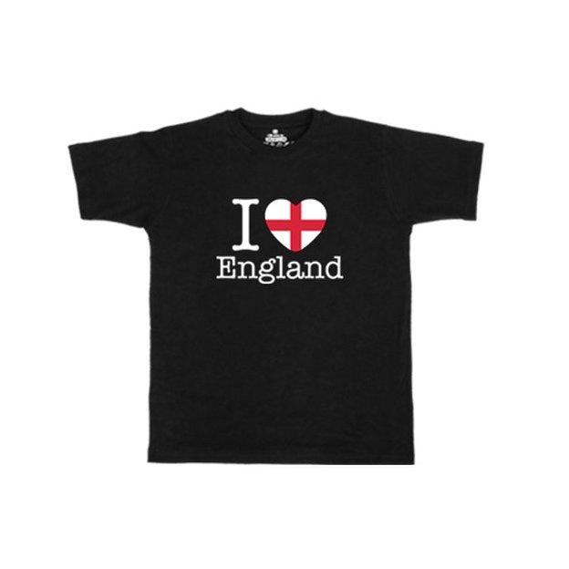 Shirt Nation Angleterre, Noir, L, Homme
