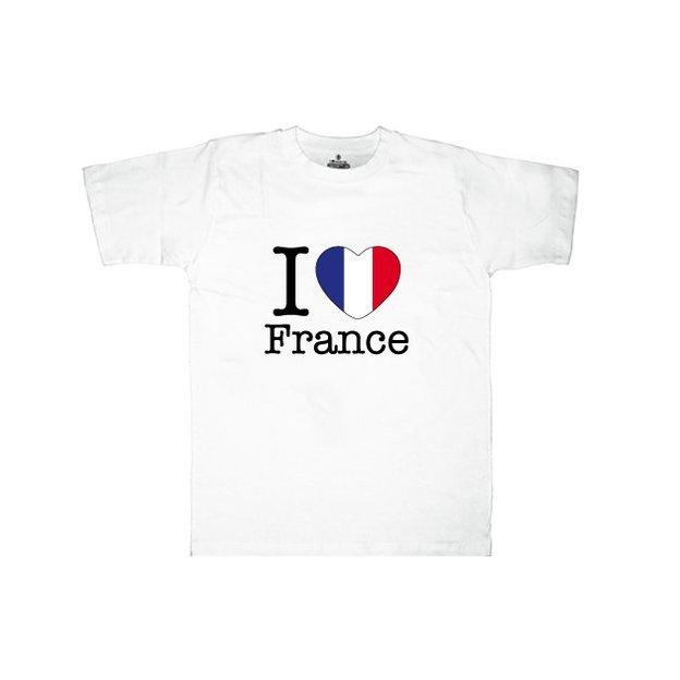 Ländershirt Frankreich, Weiss, XL, Mann