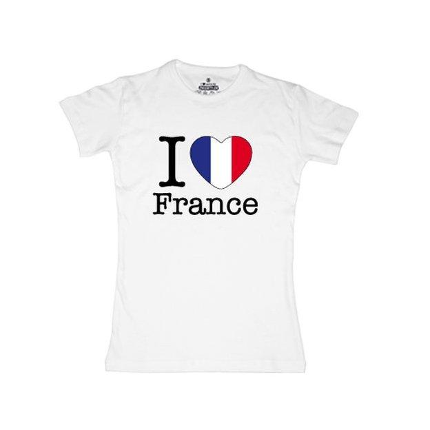 Ländershirt Frankreich, Weiss, L, Frau