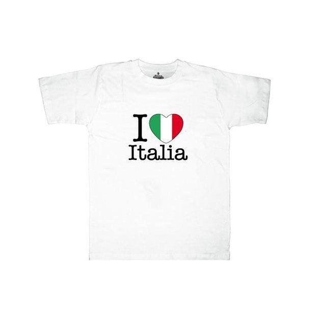 Ländershirt Italien, Weiss, M, Mann