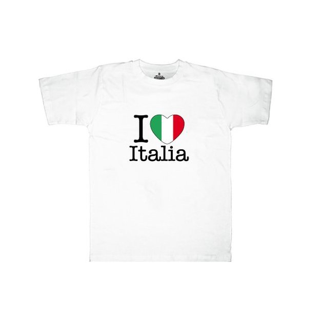 Shirt Nation Italie, Blanc, XL, Homme