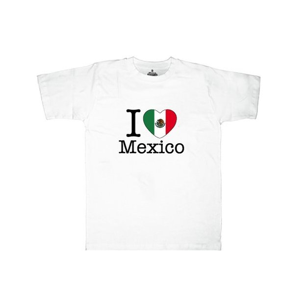Ländershirt Mexiko, Weiss, S, Mann