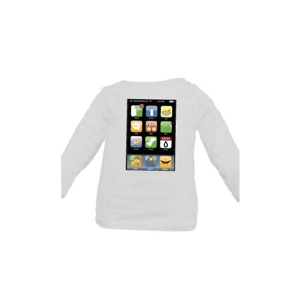 Iphone my Baby Shirt Langärmlig, 6-12 Monate