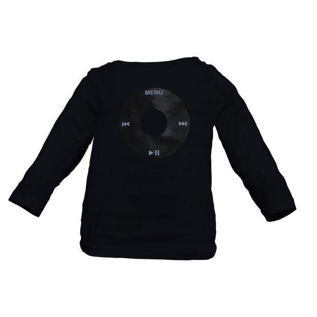 Ipod my Baby Shirt schwarz 6-12 Monate