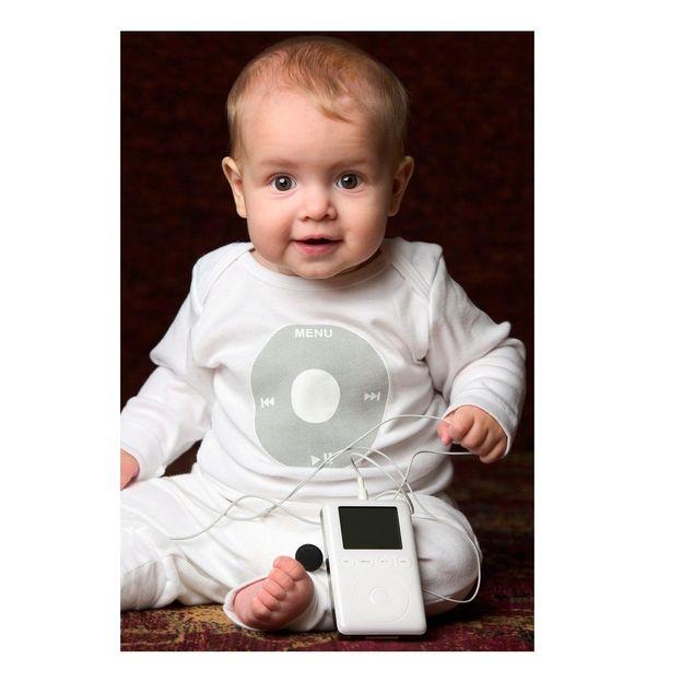 Maillot iPod bébé blanc 6-12 mois