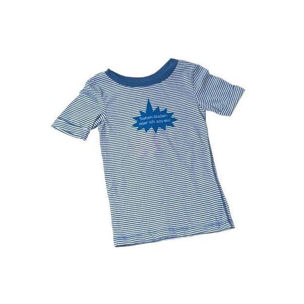 Baby Shirt Stehen bleiben oder... blau 18-24 Monate