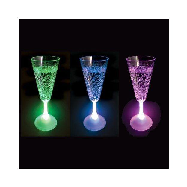 LED Champagnerglas