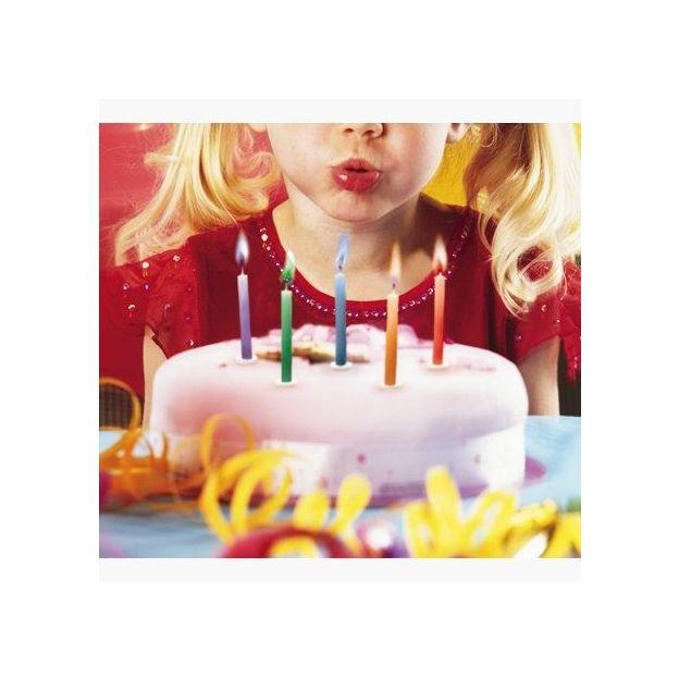 Geburtstagskerzen mit farbiger Flamme 12er Set