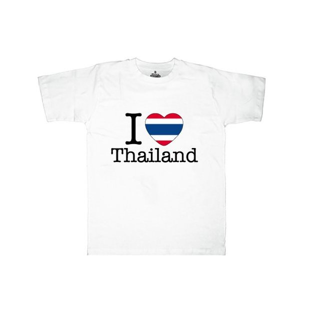 Shirt Nation Thailande, Blanc, XL, Homme