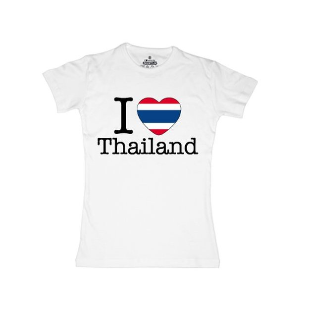 Shirt Nation Thailande, Blanc, M, Femme