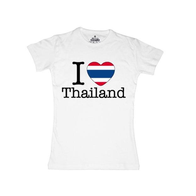 Shirt Nation Thailande, Blanc, L, Femme