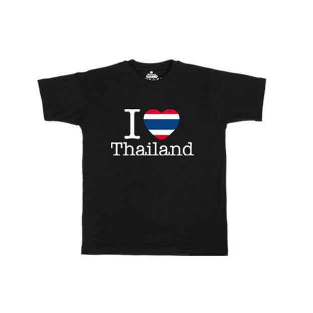 Shirt Nation Thailande, Noir, XL, Homme