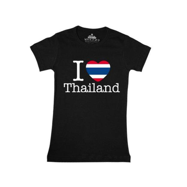 Shirt Nation Thailande, Noir, S, Femme