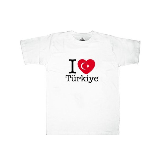 Shirt Nation Turquie, Blanc, XL, Homme