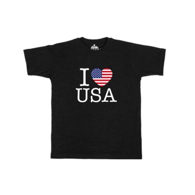 Ländershirt USA, Schwarz, L, Mann