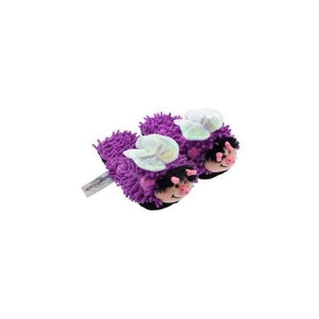 Pantoufles Fuzzy Friends Papillon violet