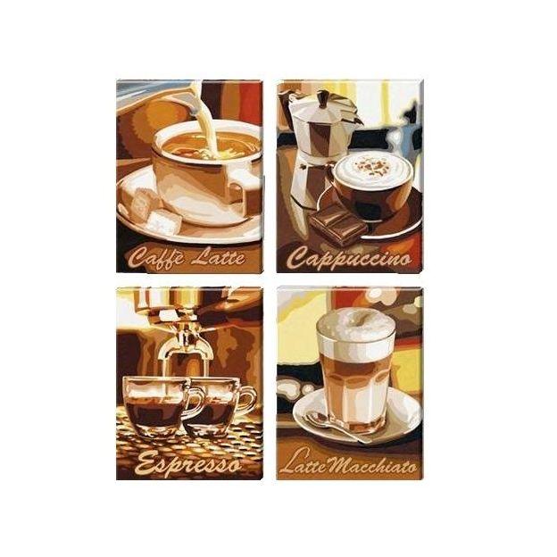 Pause café - 4  tableaux