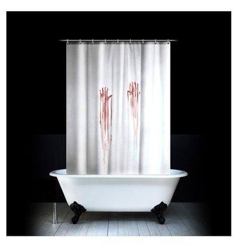 foto duschvorhang transparent mit 50 taschen. Black Bedroom Furniture Sets. Home Design Ideas
