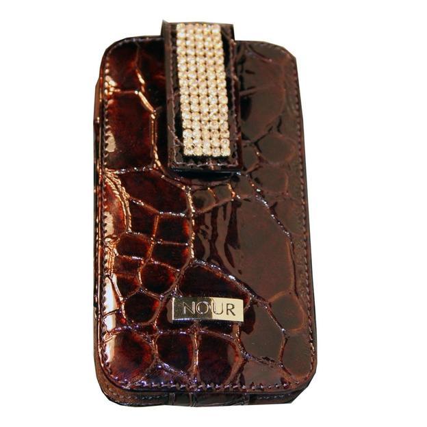Iphone Etui mit Swarovskikristallen braun gefleckt