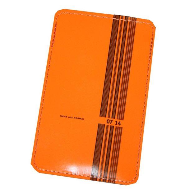 0714 Etui de cuir iPhone orange