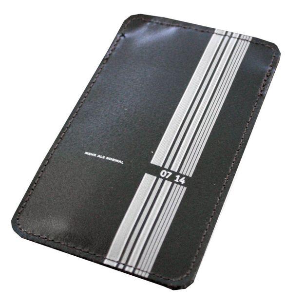 0714 Etui de cuir iPhone noir