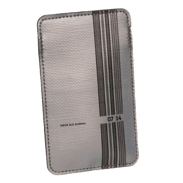 0714 Etui de cuir iPhone argent