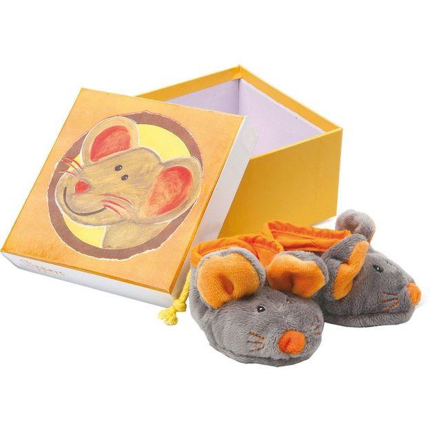 Baby Hausschuhe Maus