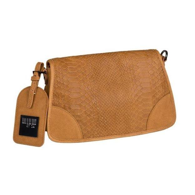 0714 Petit sac cuir à rabat imprimé python cuir