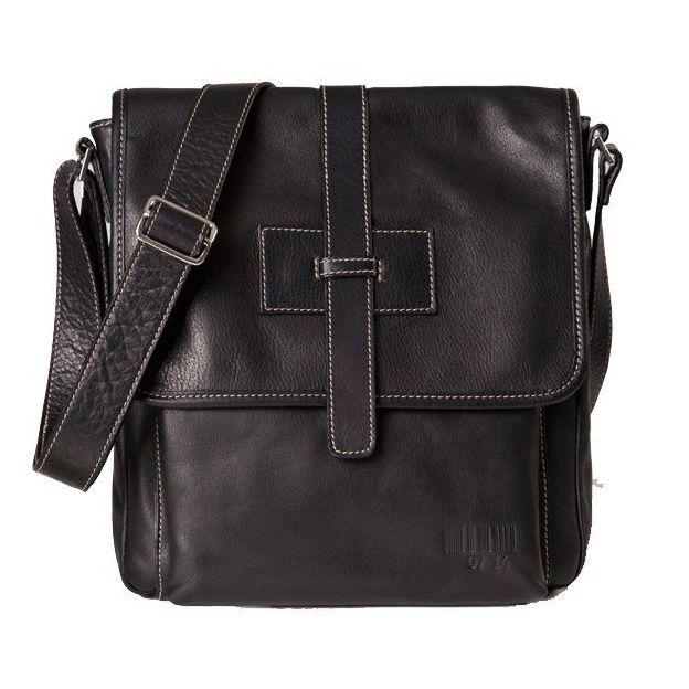 0714 Überschlagtasche klein schwarz