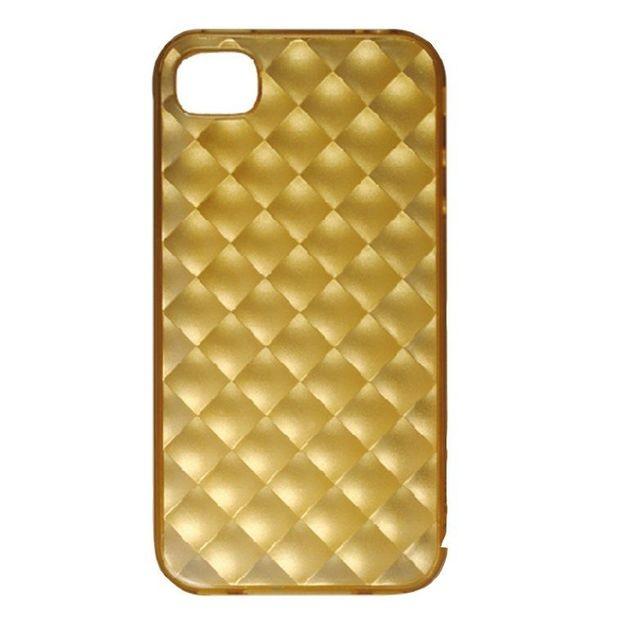 Ozaki iPhone 4 Schutzhülle inklusiv Schutzfolie gold