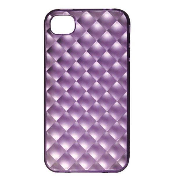Ozaki iPhone 4 Schutzhülle inklusiv Schutzfolie violett