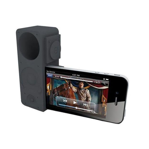 Ozaki iPhone 4/5 Verstärker iCarry Time2Boom grau