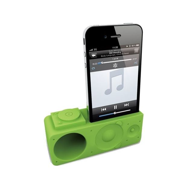Ozaki iPhone 4/5 Verstärker iCarry Time2Boom grün