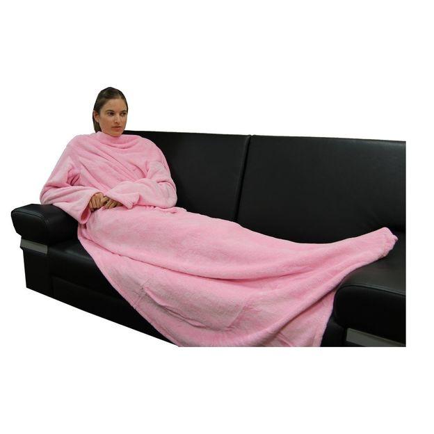 Hugz Deluxe die Decke mit Ärmeln Pretty Pink