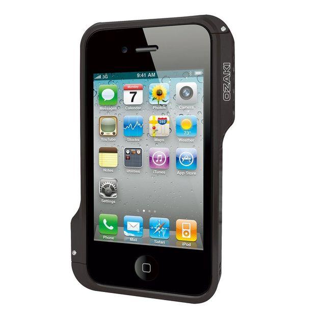 Ozaki iPhone 4 Schutzhülle o!photo Bumper schwarz