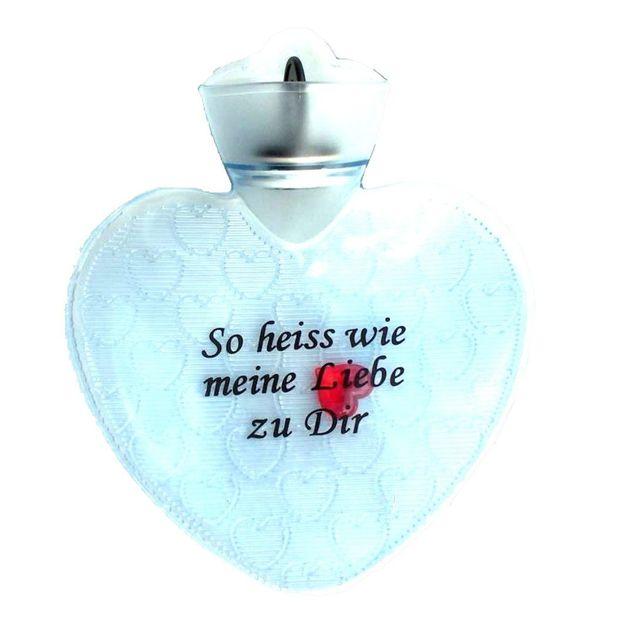 Herz Bettflasche So heiss wie meine Liebe zu dir