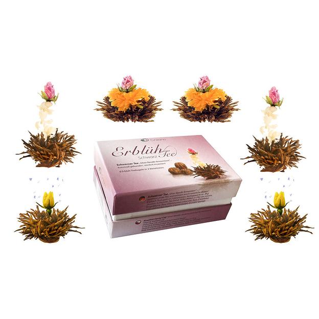 Boîte fleurs de thé Erblüh Noir