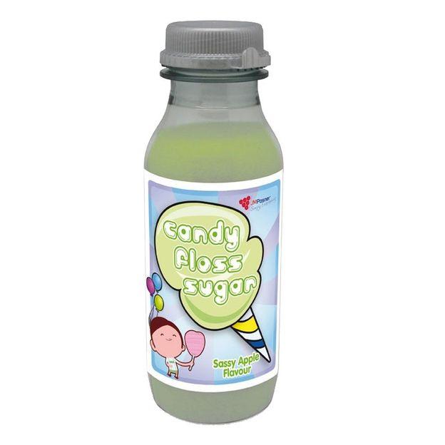 Grüne Zuckerwatte mit Apfelaroma