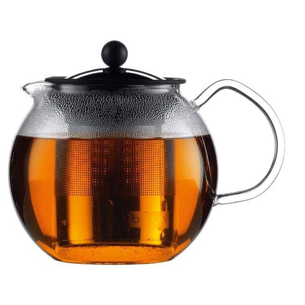 Bodum -Théière à piston Assam avec filtre inox 1.5 litre
