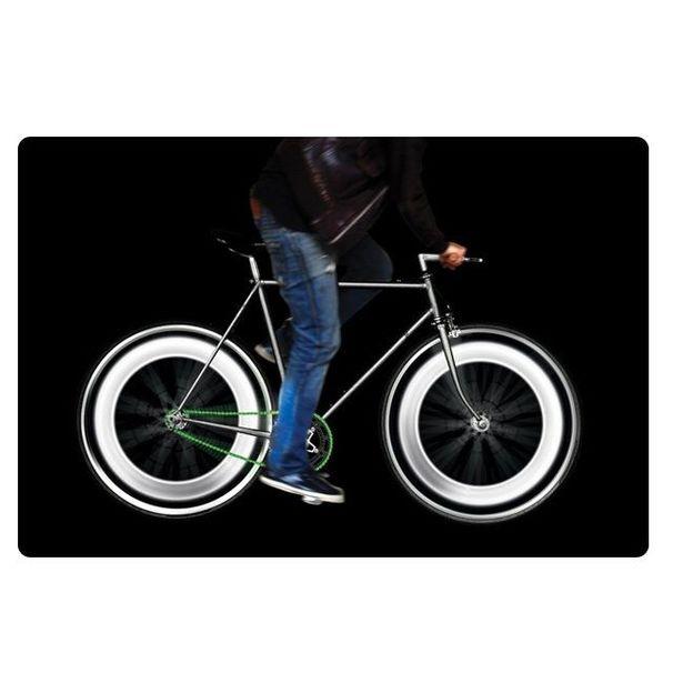 Eclairage roues de vélo blanc