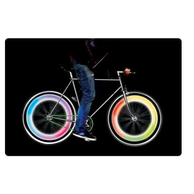 Eclairage roues de vélo multicolore
