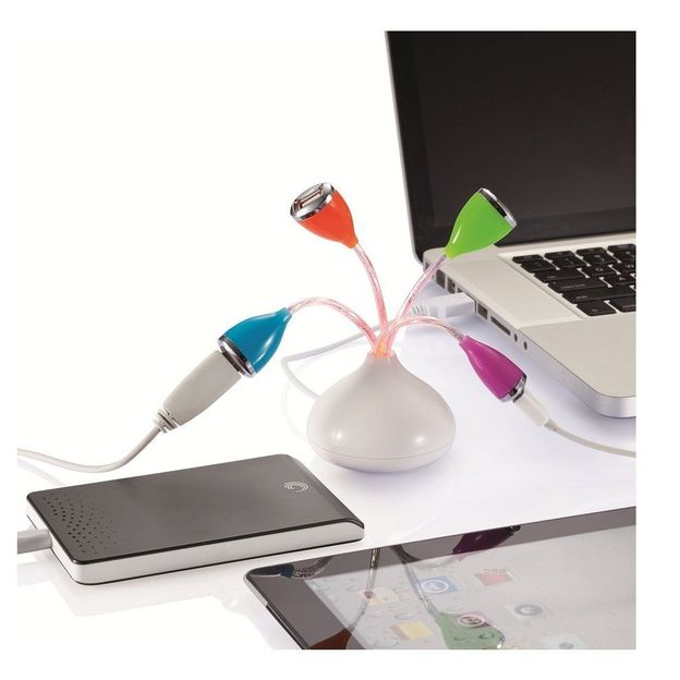 Hub multi USB fleur