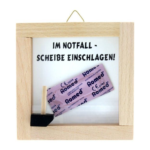 Notfall-Set Kondom