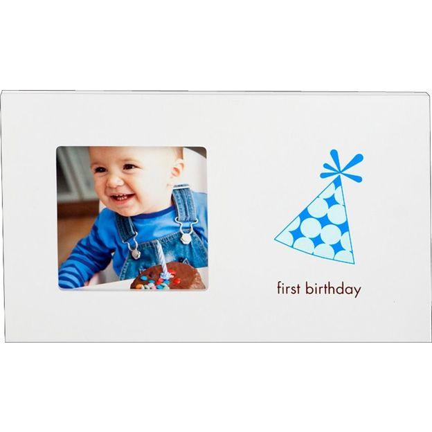 First Birthday Bilderrahmen Junge