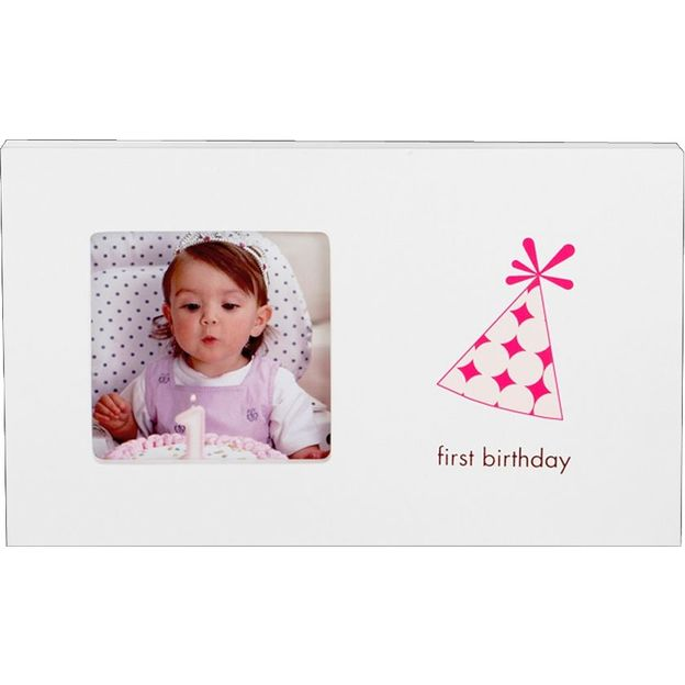 First Birthday Bilderrahmen Mädchen