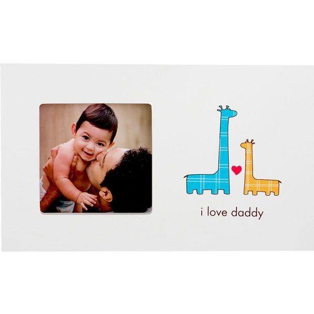 Cadre photo bébé I love daddy